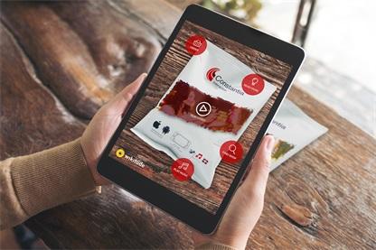 康斯坦莎软包装选择Wikitude作为技术合作伙伴,为旗下的康斯坦莎互动平台(Constantia Interactive)提供AR技术