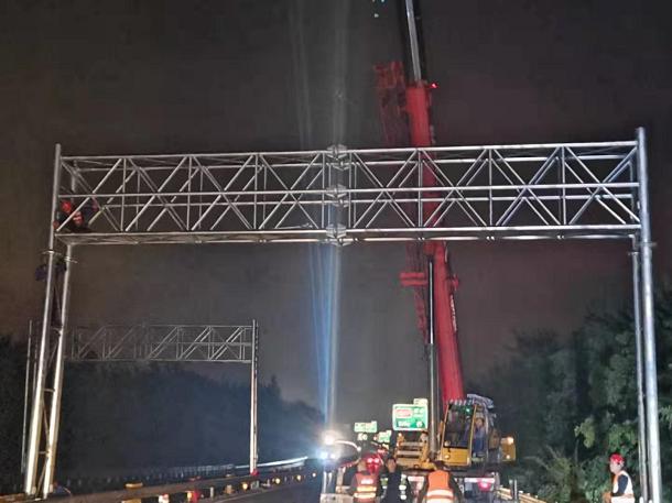 山西省ETC门架吊装全部完成