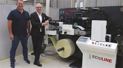 南非的Ecoline标签印刷机销往全球