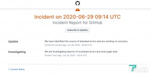 Github昨日瘫痪,数千名软件开发人员确认无法使用进行开发