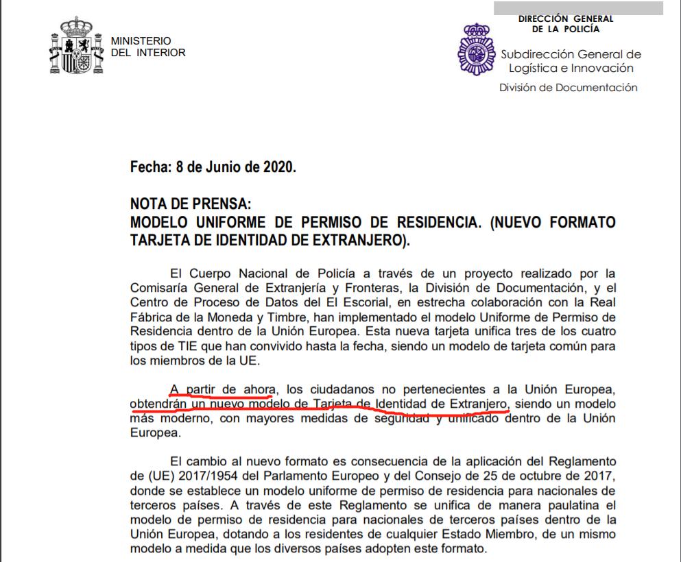 6月起西班牙居留改版啦~ 使用射频识别技术,边境人员可读取数据