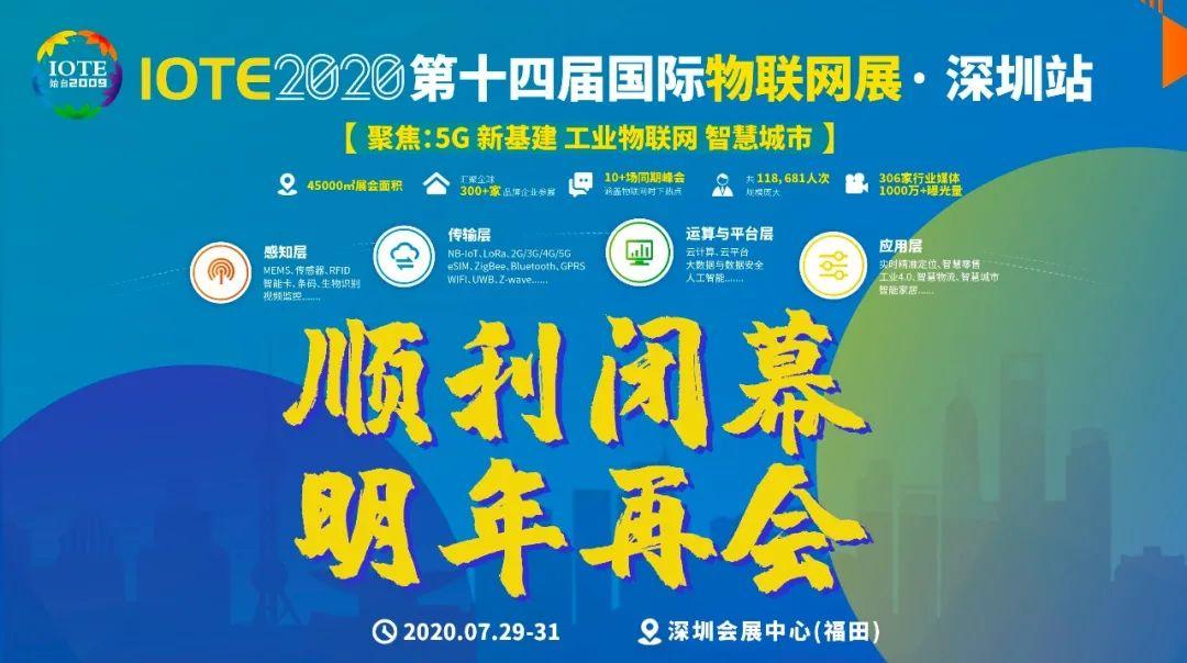 万众期待的IOTE2020深圳国际物联网展圆满落幕